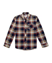 Flying Machine Full Sleeve Checks Shirt - Brown & Blue