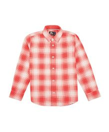 Flying Machine Full Sleeve Checks Shirt - Red White
