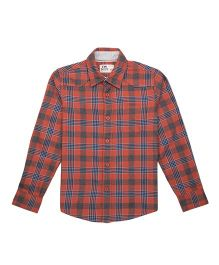 Flying Machine Full Sleeve Checks Shirt - Red Blue