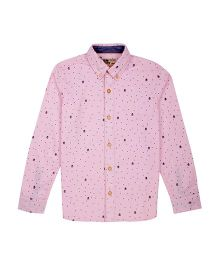 Flying Machine Full Sleeve Printed Shirt - Pink