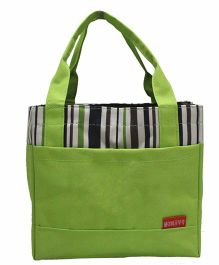 Ez Life Stripes Lunch Bag - Green
