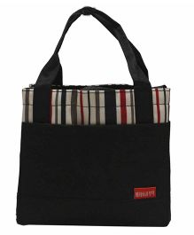 Ez Life Stripes Lunch Bag - Black