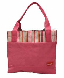 Ez Life Stripes Lunch Bag - Pink