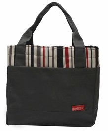 Ez Life Stripes Lunch Bag - Grey