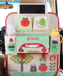 Ez Life Apple Car Seat Organizer - Multicolour