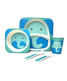 Ez Life Elephant Dining Set 5 Pieces - Blue