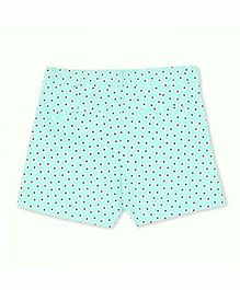 Cherry Crumble California Fine Cotton Printed Shorts - Green & White