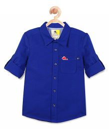 Cherry Crumble California Single Dye Cotton Shirt - Blue