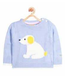 Cherry Crumble California Animal Pet Knitted Sweater - Blue