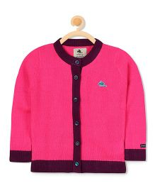 Cherry Crumble California Icon Knit Cardigan - Pink