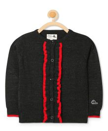 Cherry Crumble California Back To School Cardigan - Black & Red