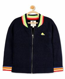 Cherry Crumble California Stripe Knit Sweater - Black