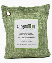 Moso Natural Air Purifying Bag Green Color - Covers upto 250 Sq Ft -
