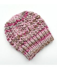 Magic Needles Netted Beanie - Pink