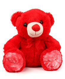 Liviya Sitting Teddy Bear Soft Toy Red - Height 31 cm
