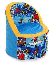 Luvely Kids Smart Animal Print Sofa - Blue Yellow