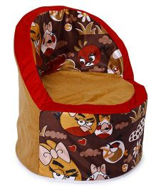 Luvely Angry Bird Printed Sofa Chair- Brown Red