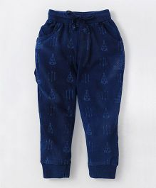 Olio Kids Full Length Jogger Jeans Multi Printed - Dark Blue