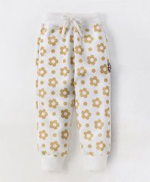 Olio Kids Full Length Lounge Pant Floral Print - Off White