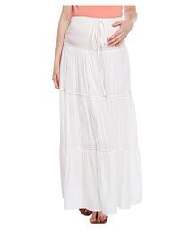Oxolloxo Elasticated Maternity Skirt - White