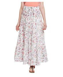 Oxolloxo Floral Printed Maternity Skirt - White