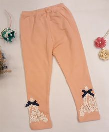 Aww Hunnie Lace Work Leggings - Pink