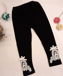 Aww Hunnie Lace Work Leggings - Black