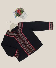 Aww Hunnie Embroidered Jacket - Navy Blue