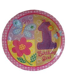 ShopAParty 1st Birthday Girl Plates - Pink