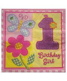 ShopAParty 1st Birthday Girl Napkins - Pink
