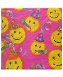 ShopAParty Smiley Napkins - Pink