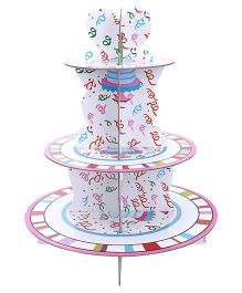 ShopAParty 3 Tier Cupcake Stand - Multicolour