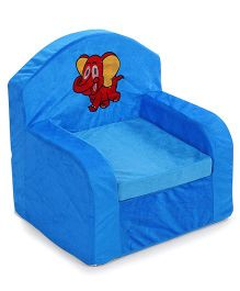Luvely Kids Elephant Embroidery Sofa Chair - Blue