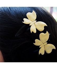 Pretty Ponytails Glitter Butterfly Hair Clip - Golden
