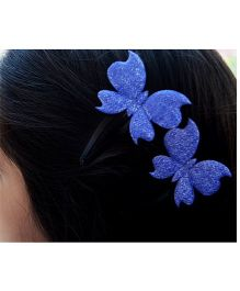 Pretty Ponytails Glitter Butterfly Hair Clip - Blue