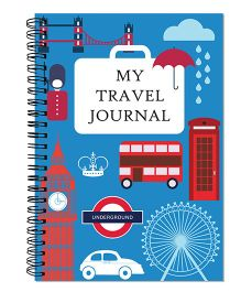 Little Jamun My Travel Journal London Theme - Blue