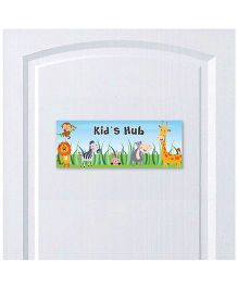 Little Jamun Animal Themed Door Sign - Multicolor