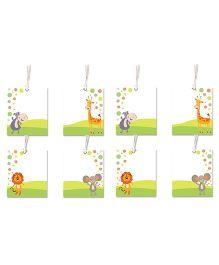 Little Jamun Cute Animals Themed Gift Tags Multicolor - Set of 8
