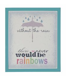 Little Jamun Quote And Colorful Print Frames- Blue
