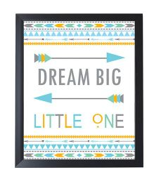 Little Jamun Quote And Colorful Print Frames - Black