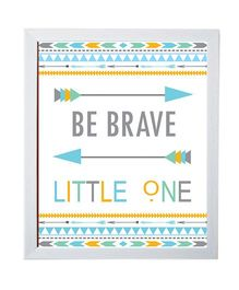 Little Jamun Quote And Colorful Print Frames - Ivory White