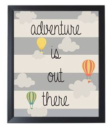 Little Jamun Adventure Quote And Colorful Print Frames - Black