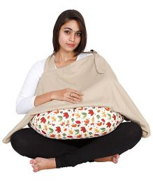 Lulamom Lark Nursing Cover And Feeding Pillow Combo - Red