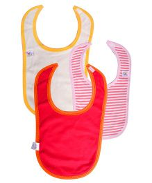 Colorfly Plain And Printed Bibs Pack Of 3 - Multicolor