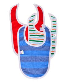 Colorfly Solid Color And Printed Bibs Pack Of 3 - Multicolor