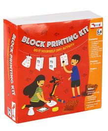 CocoMoco Kids Block Printing Kit - Multicolor