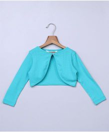 Beebay Party Wear Full Sleeves Shrug - Sky Blue