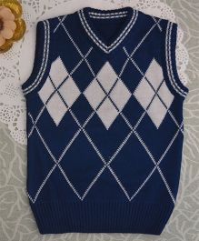 Blossoms From KnittingNani Diamond Pattern Sweater - Blue
