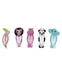 Funkrafts Animals Tic Tac Hair Clips Pack Of 5 - Multicolor