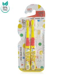 Buddsbuddy Famma Design Tooth Brush Pack of 2 - Yellow